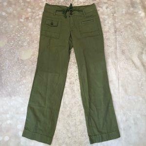 Anthro Hei Hei Linen Blend Army Green Pants 4
